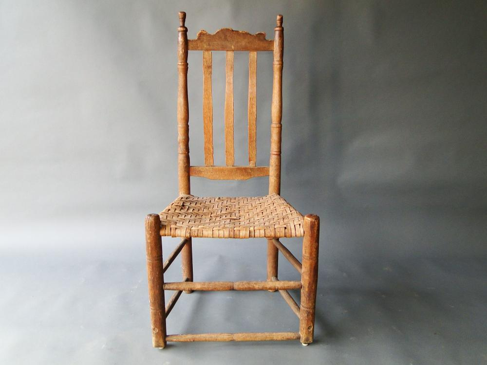 18TH C BANISTER BACK SIDE CHAIR