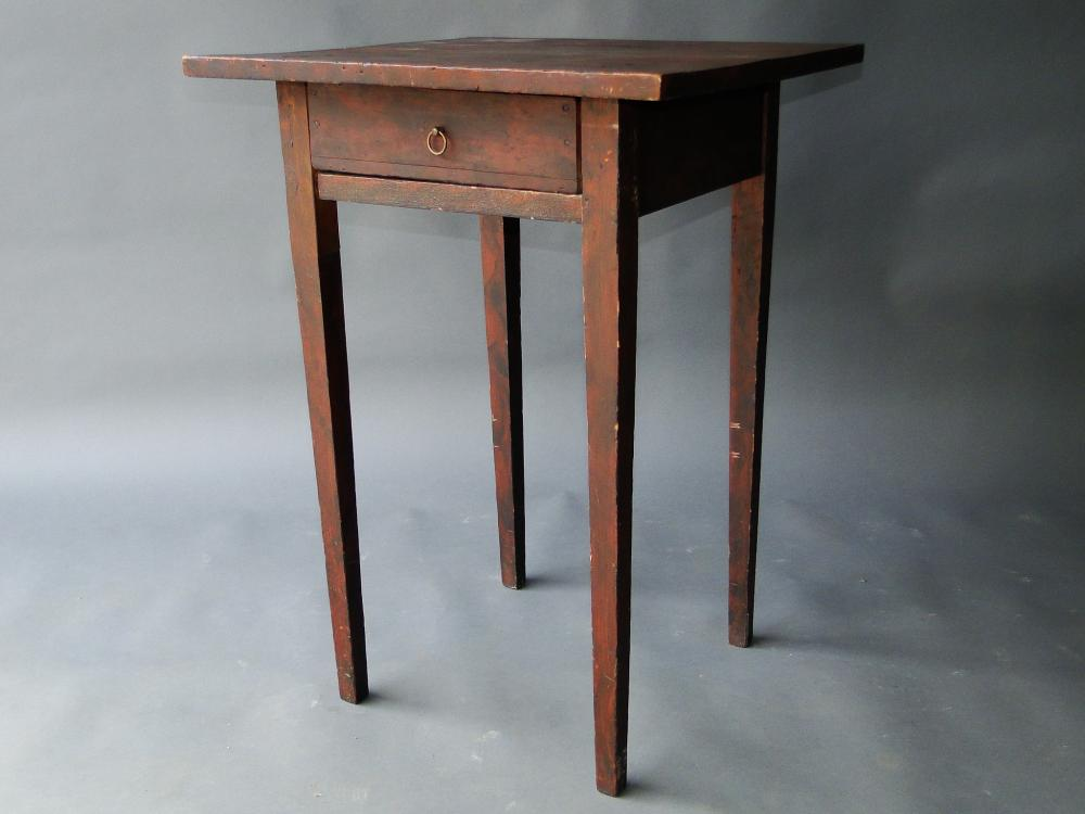 19TH C PAINT DECORATED TABLE