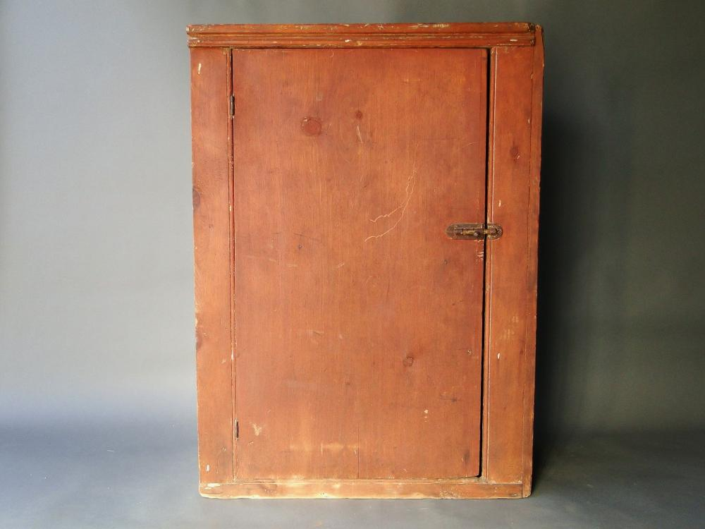 PRIMITIVE RED PAINTED JELLY CUPBOARD