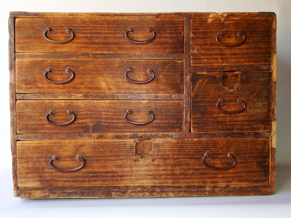 19TH C APOTHECARY 12 DRAWERS