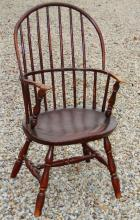 18th c bowback painted windsor chair