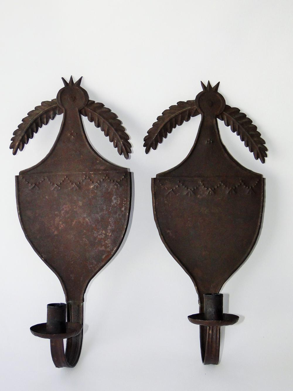 EARLY 19TH C CANDLE SCONCES