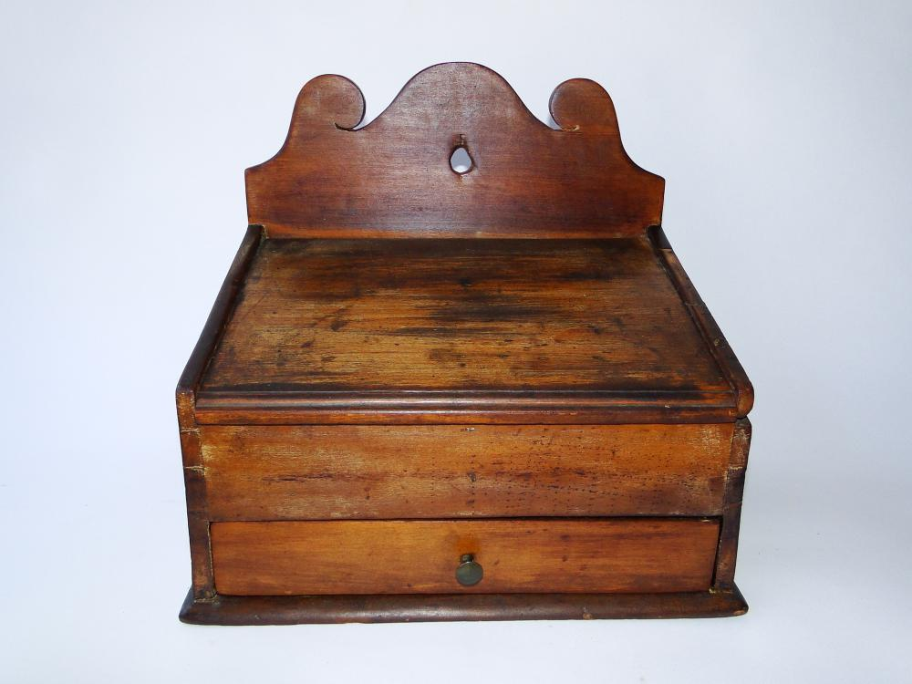 18TH C CHERRY WALL BOX