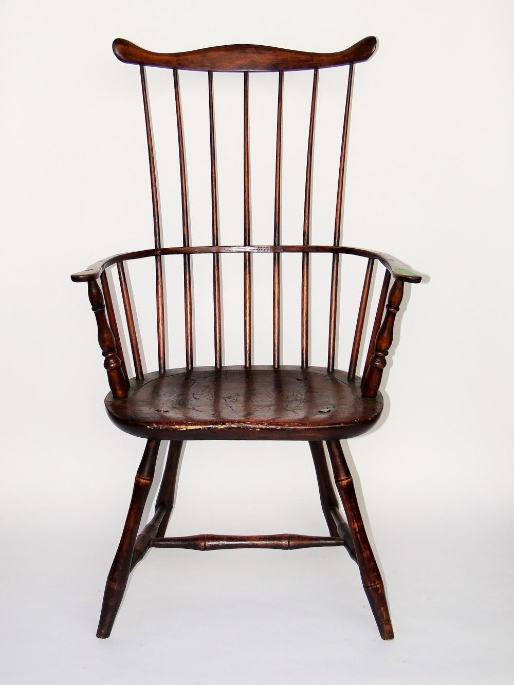 18TH C FANBACK WINDSOR ARMCHAIR