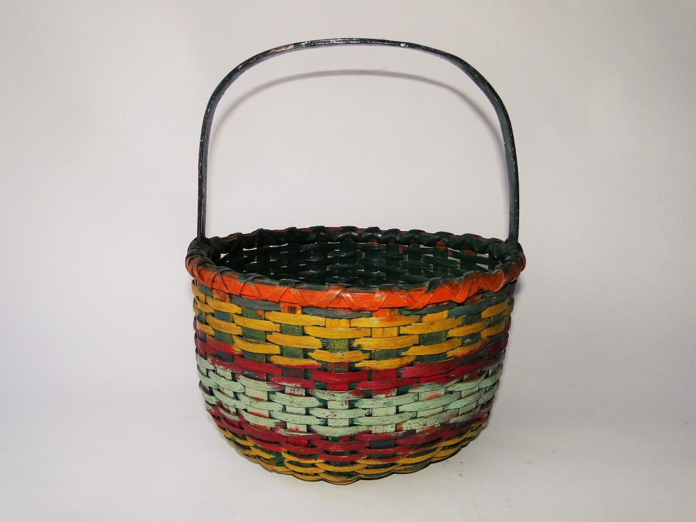 19TH C PAINTED BASKET