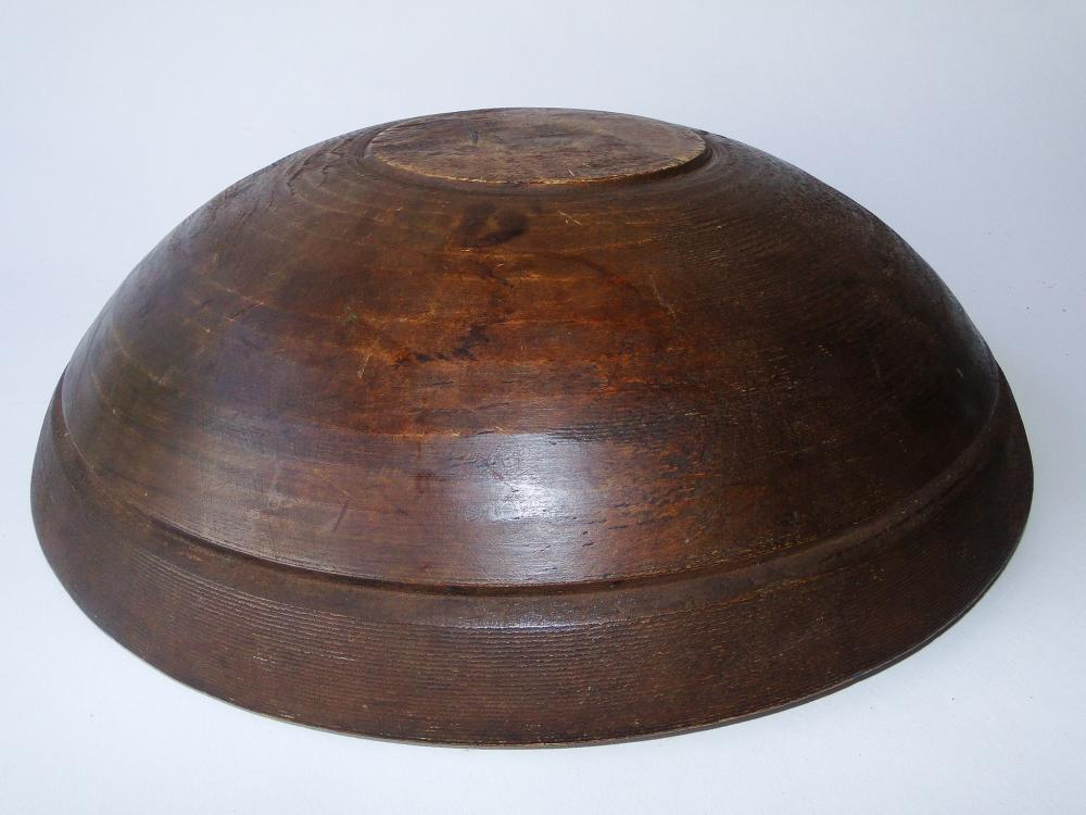 19TH C PAINTED WOODEN BOWL