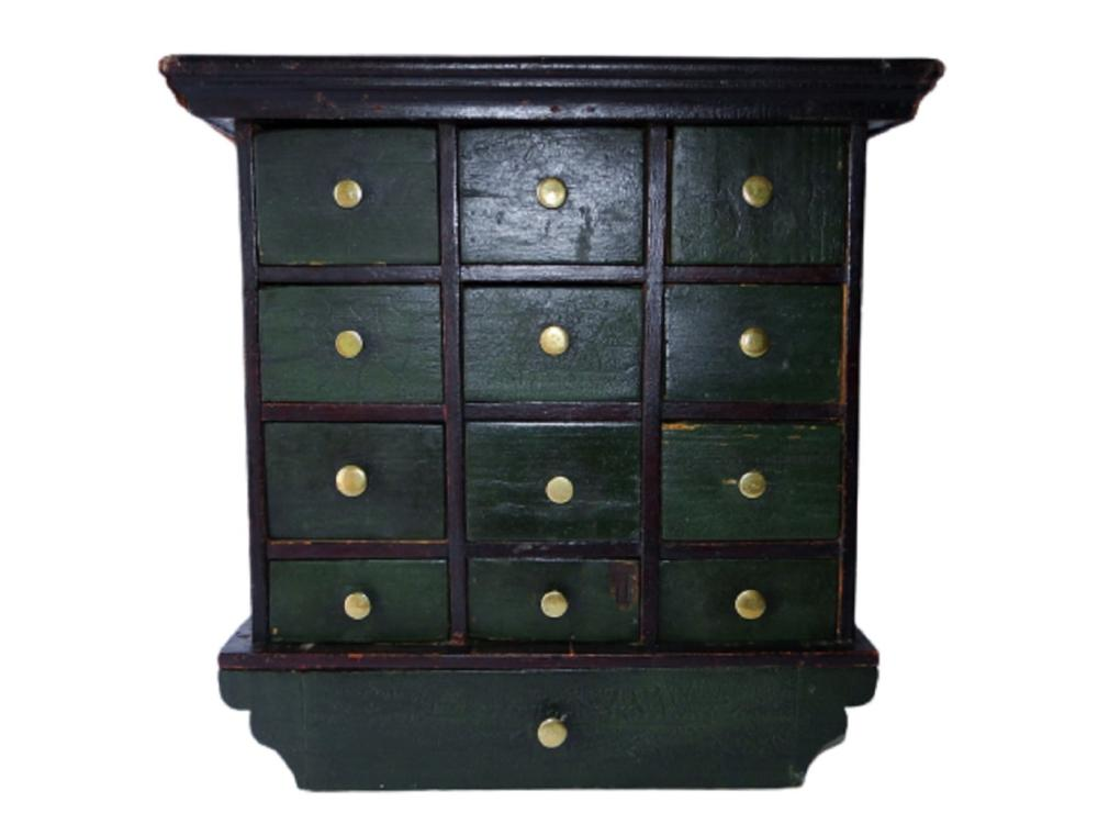 EARLY 19TH C WALL SPICE CHEST