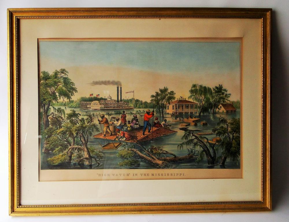 LARGE CURRIER AND IVES FOLIO