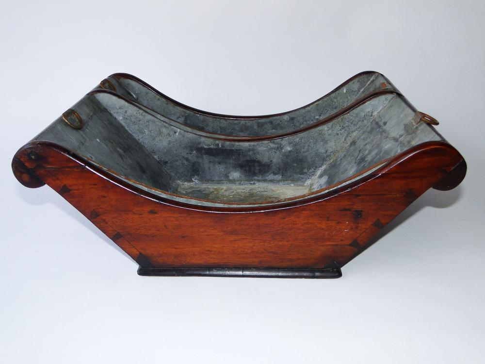 18TH C WALNUT CHEESE CRADLE