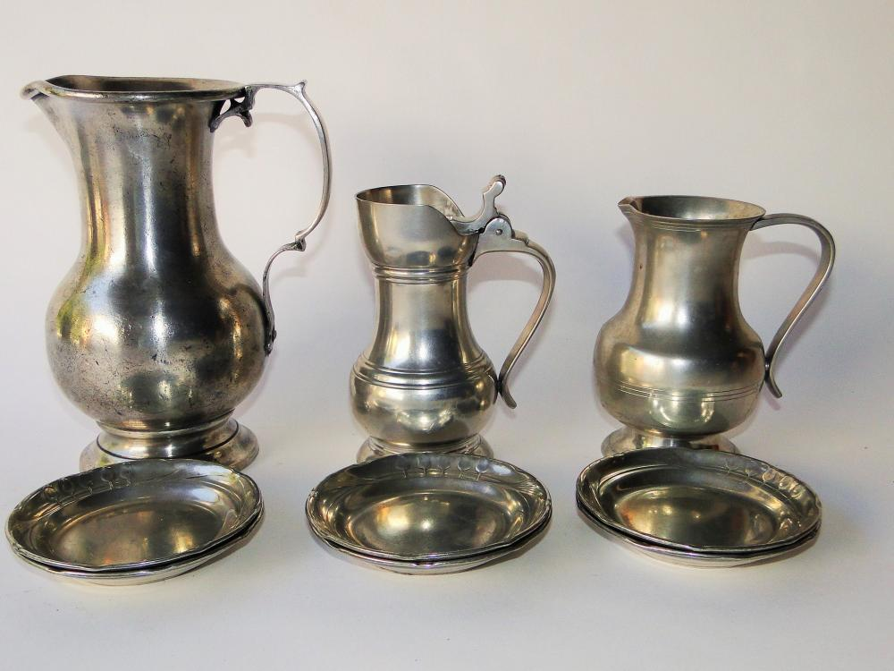 LOT OF FRENCH PEWTER