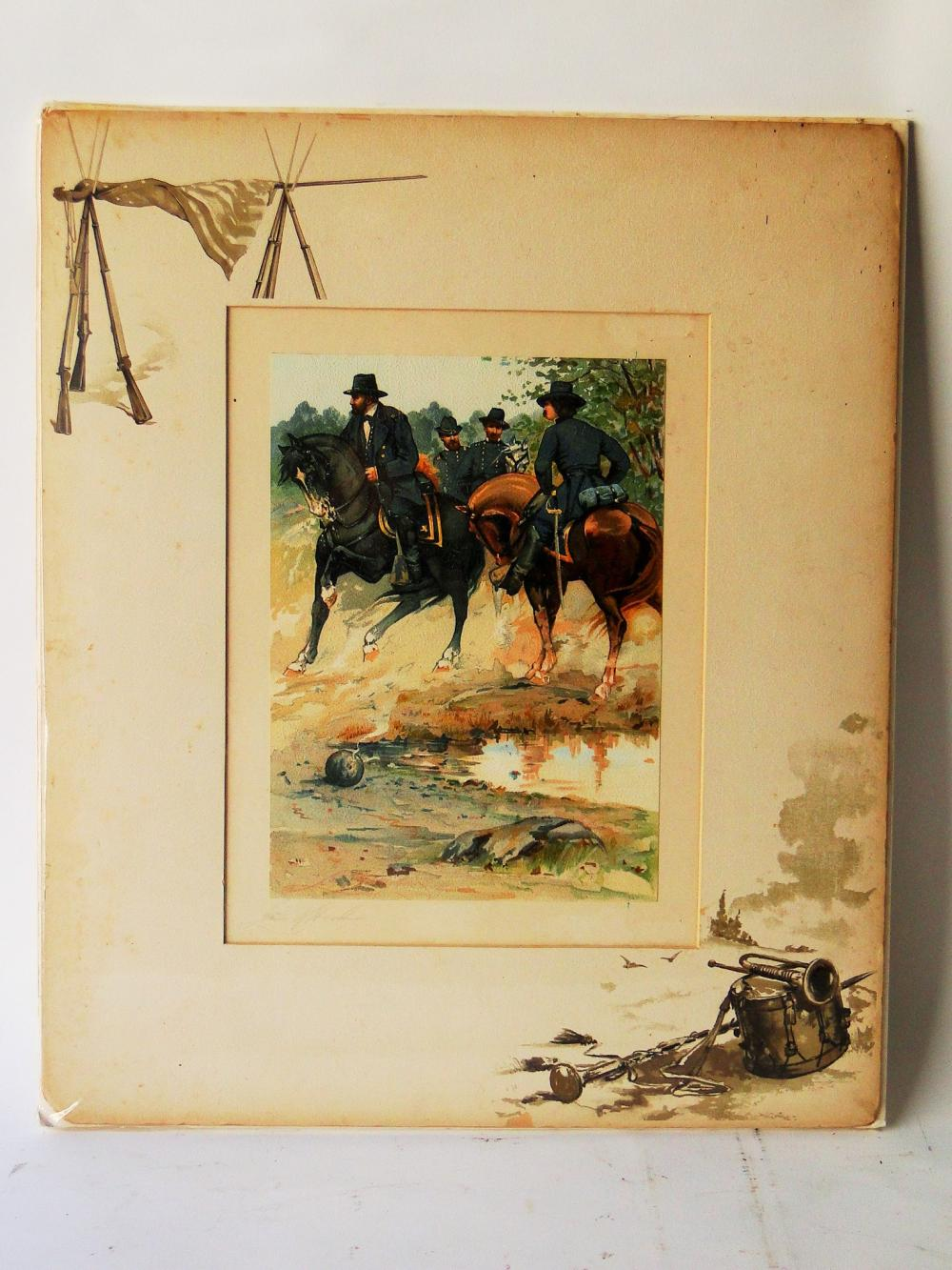 CIVIL WAR LITHOGRAPH BY LOUIS HARLOW