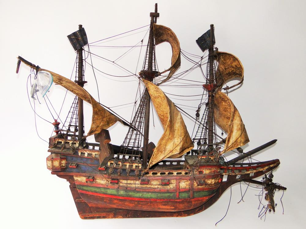 EARLY 19TH C MODEL OF A SAILING SHIP