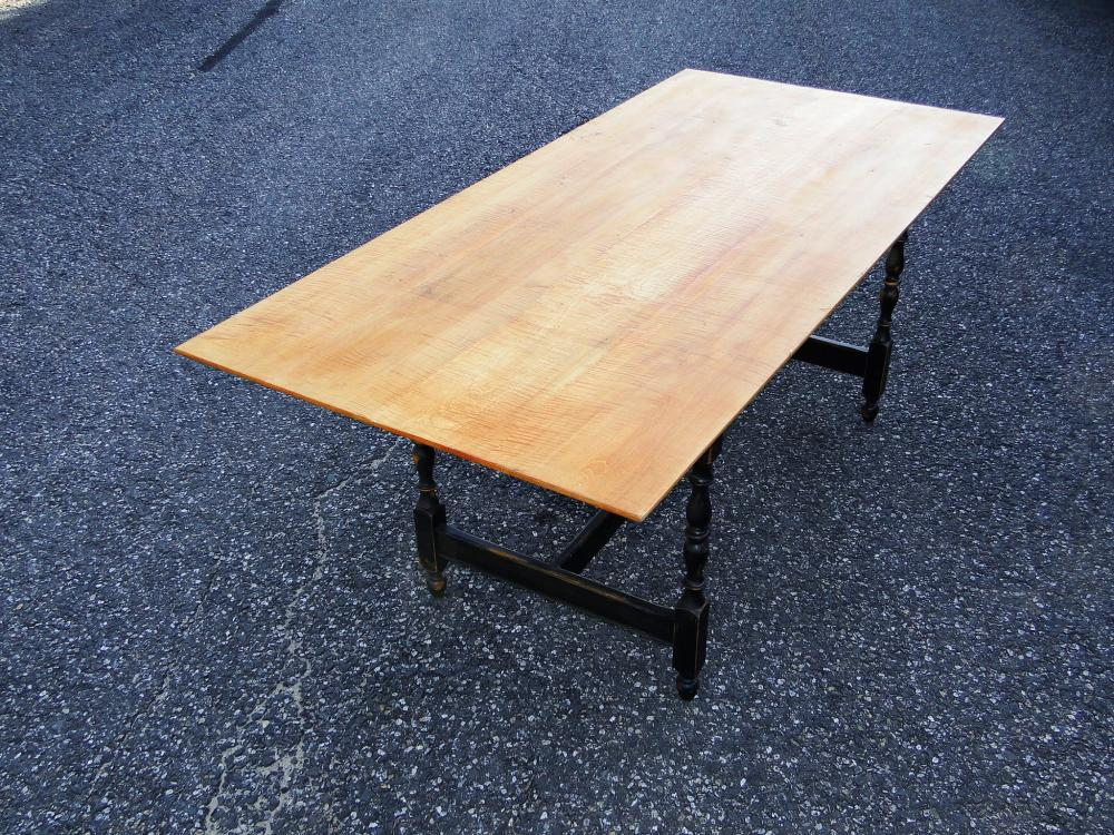 DIMES TIGER MAPLE DINING TABLE