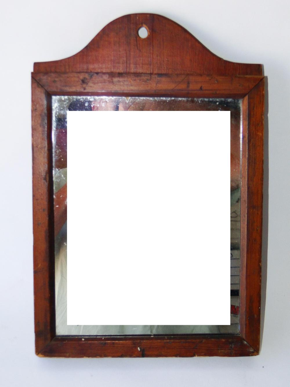 19TH C PRIMITIVE SHAKER MIRROR