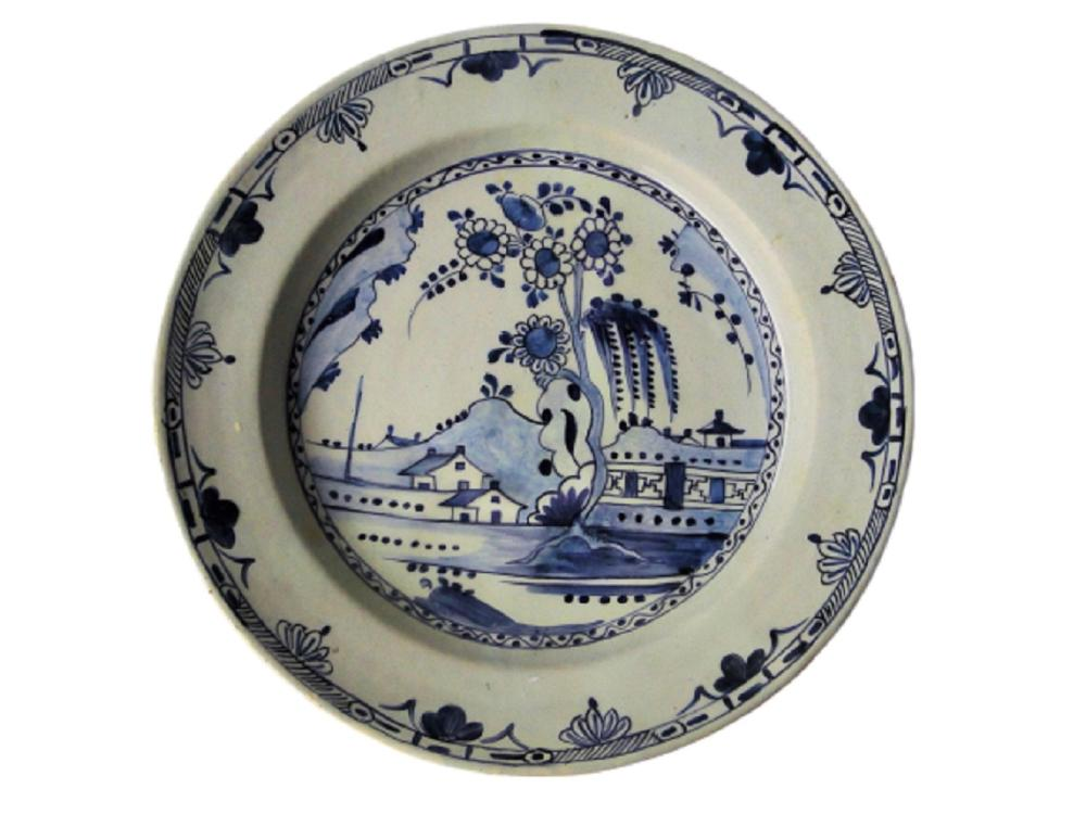 EARLY DELFT CHARGER FENCE/ FLORAL