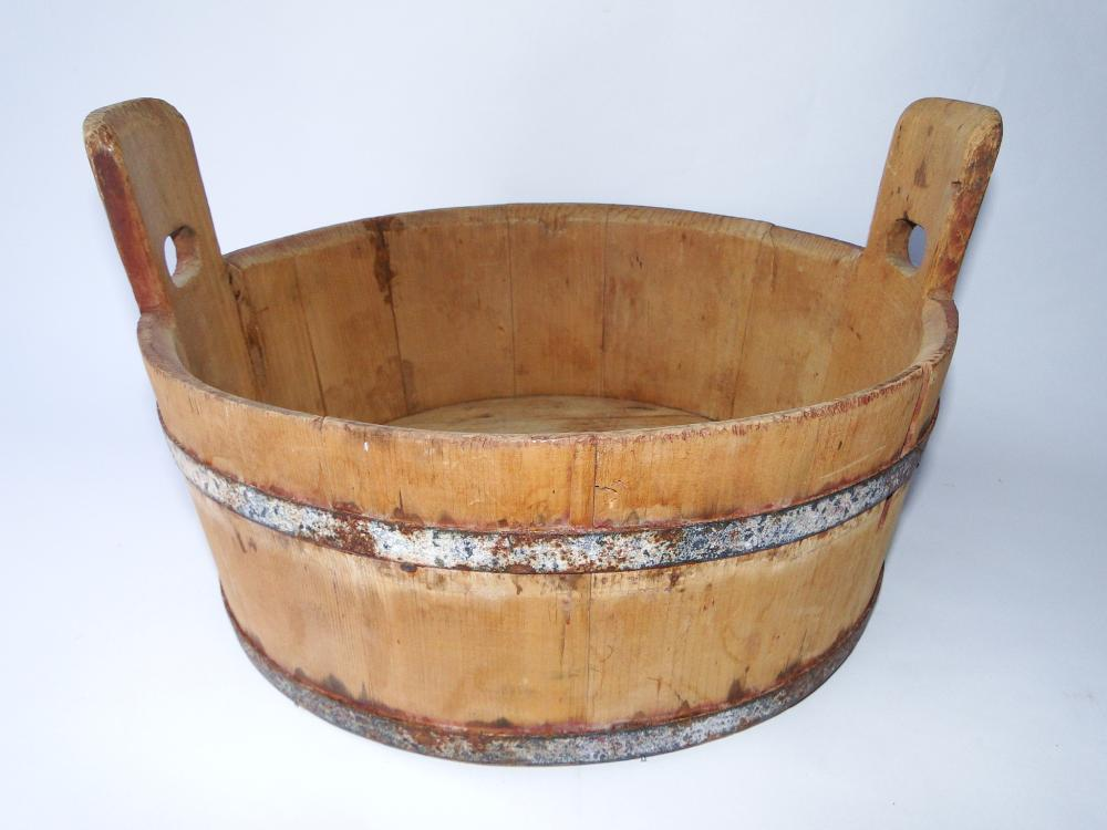 19TH C WASH BARRELL
