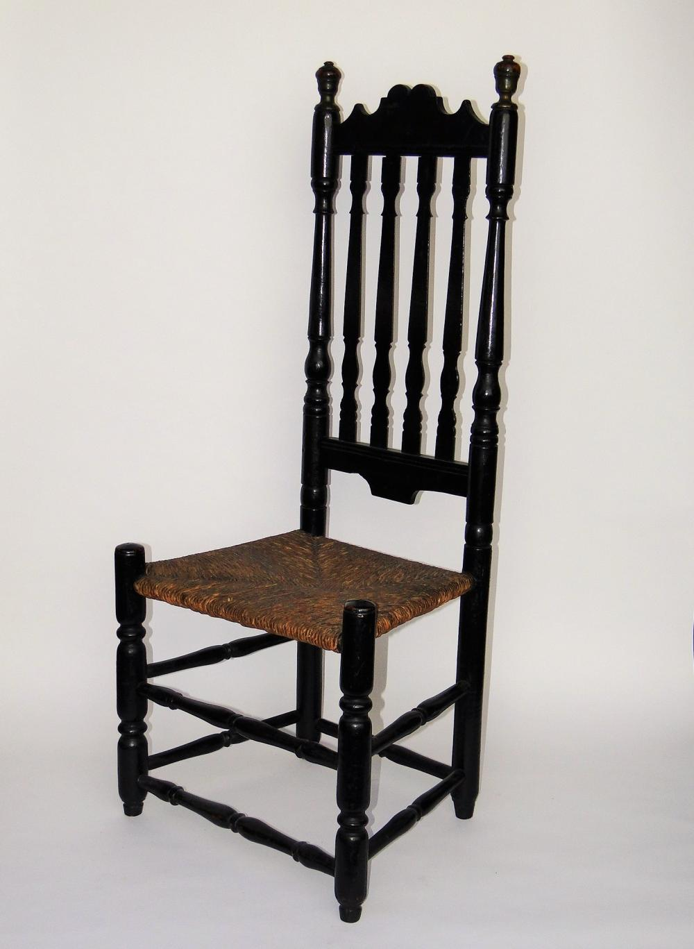 18TH C BALUSTER-BACK SIDE CHAIR