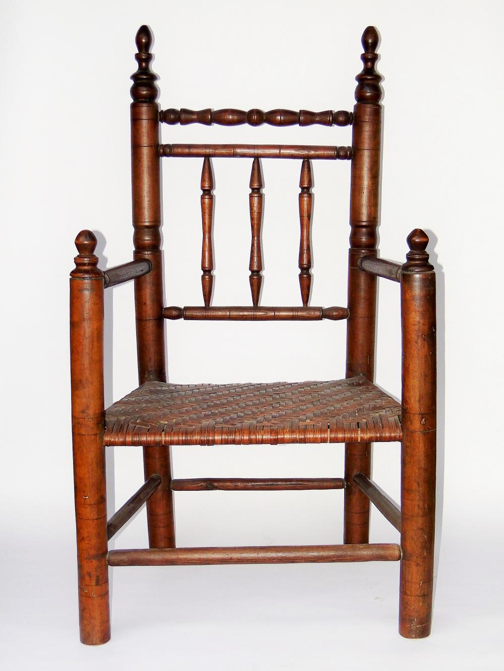 MASSACHUSETTS CARVER ARMCHAIR
