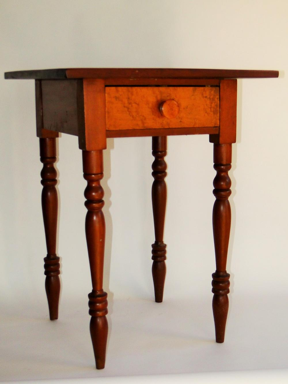 SHERATON PERIOD BIRDSEYE MAPLE STAND