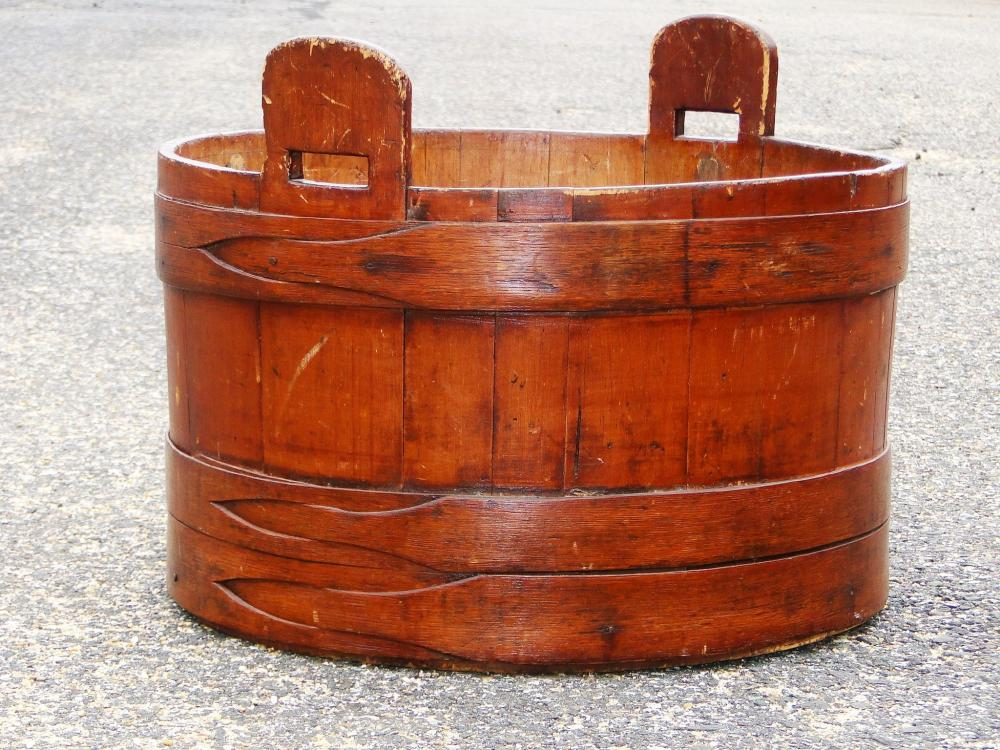 19TH C SHAKER WASH TUB