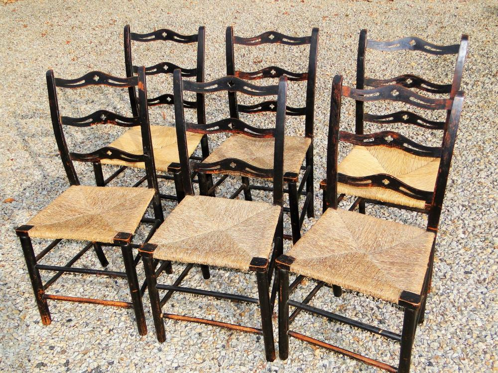 SET SIX CHIPPENDALE CHAIRS