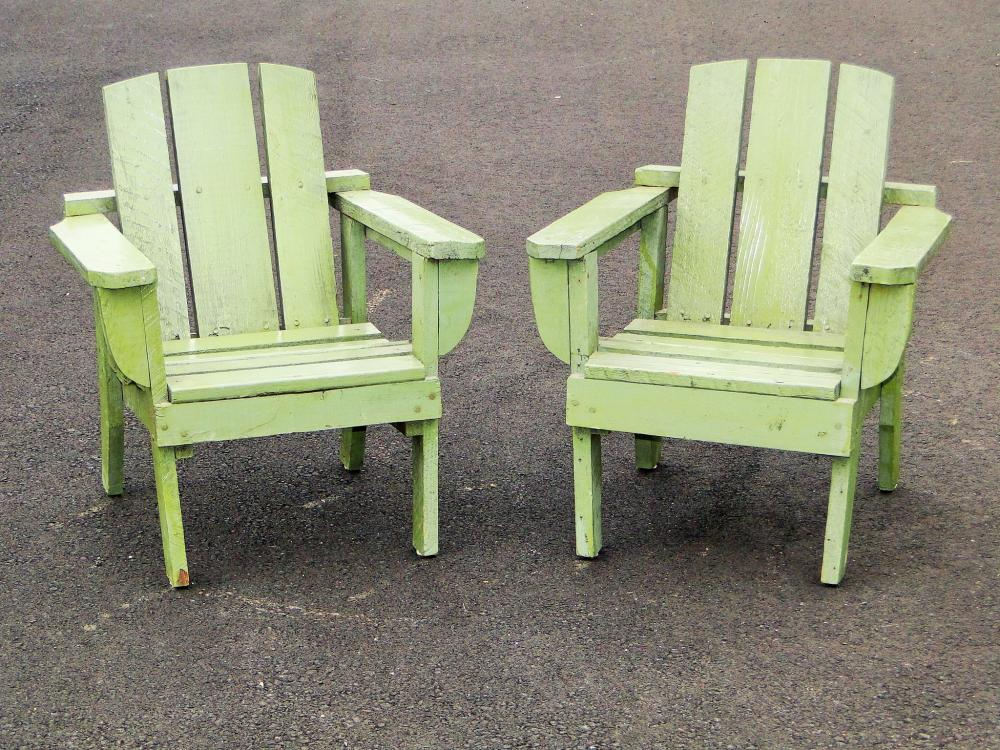PAIR CHILD'S ADIRONDACK  ARMCHAIRS