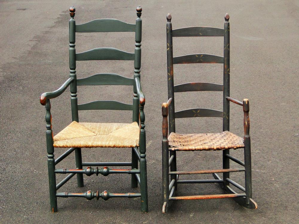 TWO PERIOD PAINTED CHAIRS