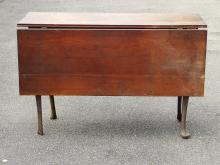 Lot 20: 18TH C QUEEN ANNE DROPLEAF TABLE