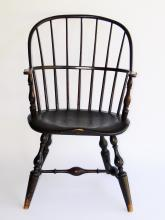Lot 31: 18TH C NEW YORK WINDSOR ARM CHAIR
