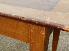 Lot 40: 19TH C PAINTED FARM TABLE