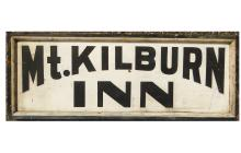 Lot 41: NH MT. KILBURN INN TRADE SIGN