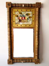 Lot 48: 19TH C SPLIT COLUMN MIRROR