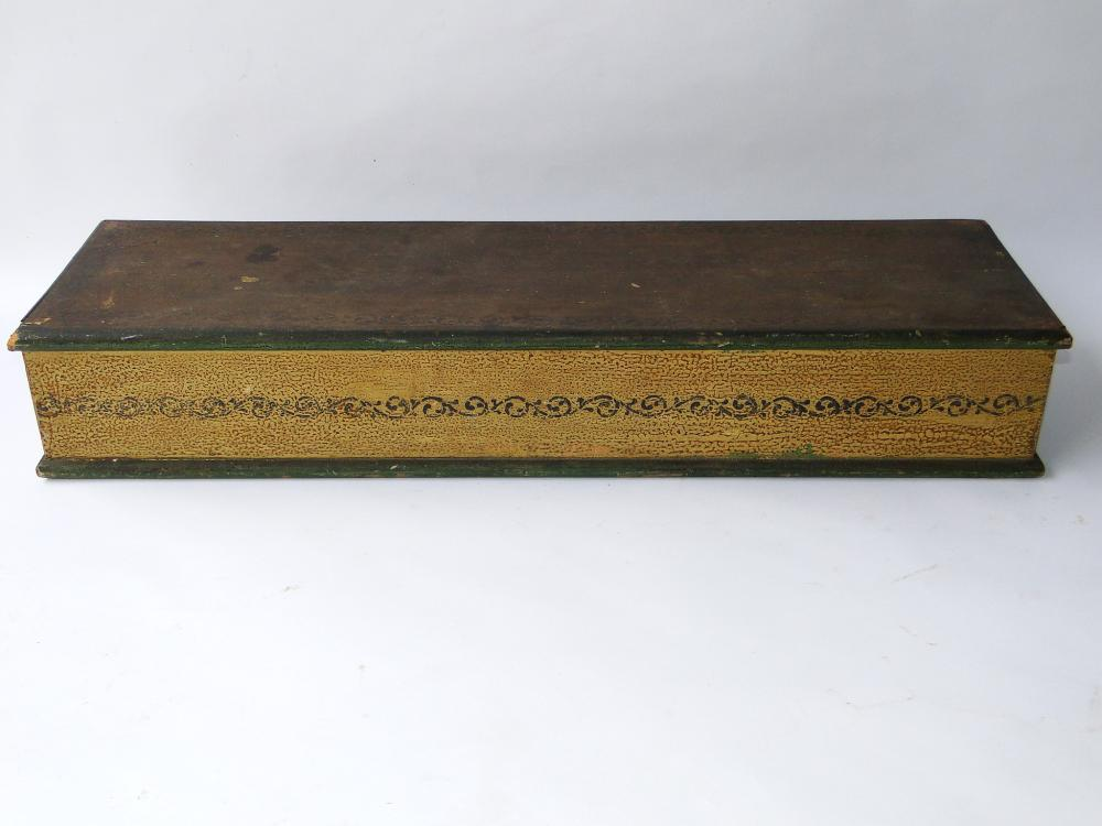 19TH C DECORATED MAP CASE