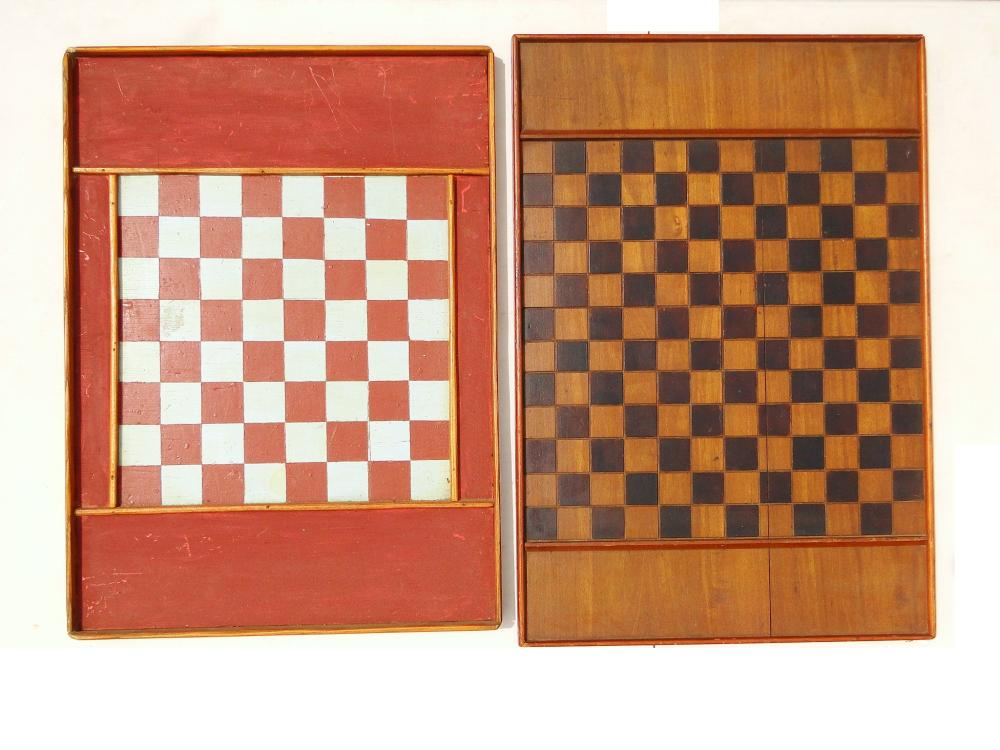 Lot 50G: TWO PAINTED GAME BOARDS