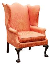 Lot 59: COUNTRY WING CHAIR BY SERAPH