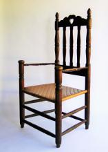 Lot 60: C 1690 NEW YORK HEART AND CROWN ARM CHAIR