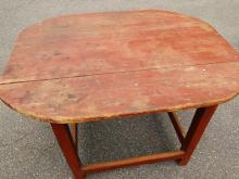 Lot 60G: 18TH C STRETCHER BASE DINING TABLE