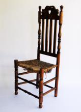Lot 62: 18TH C HEART AND CROWN CT. SIDE CHAIR