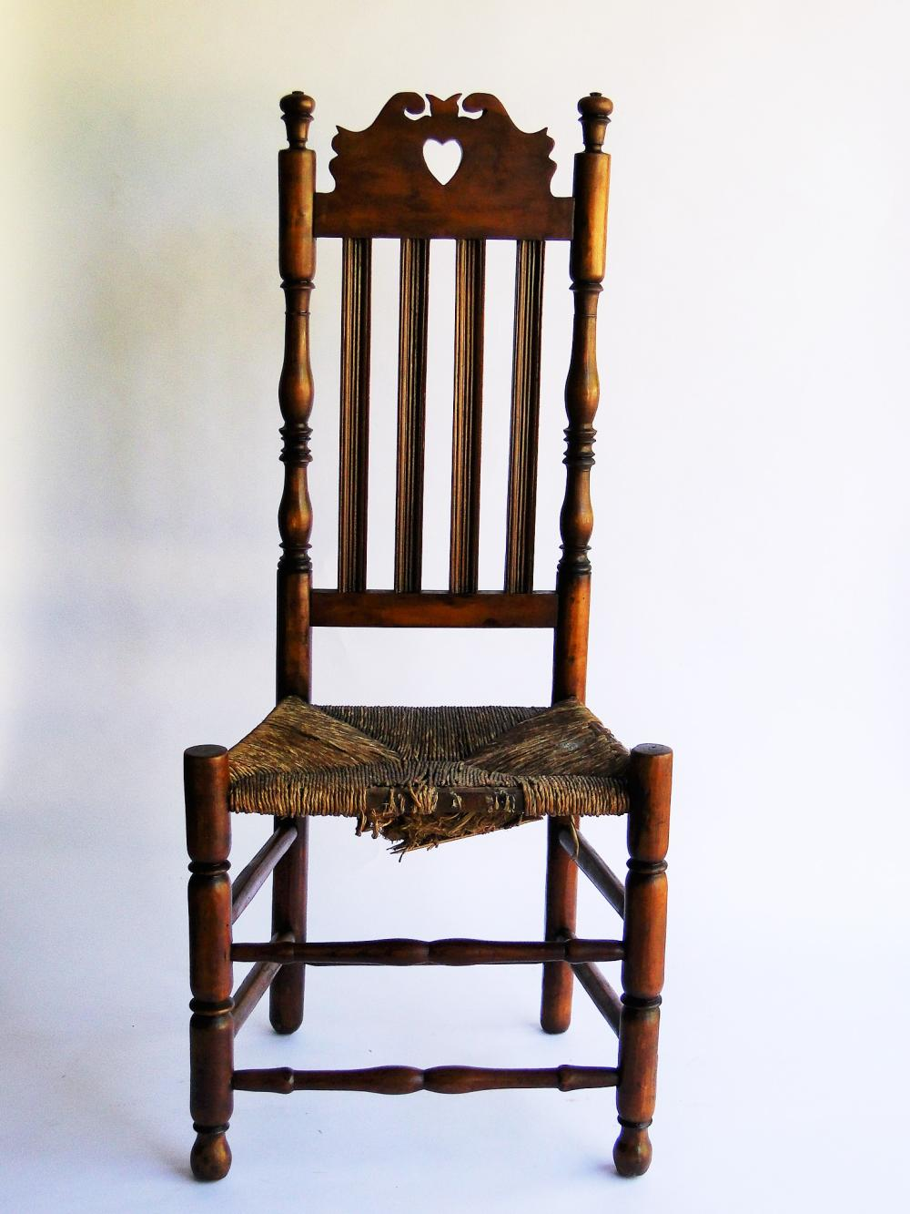 18TH C HEART AND CROWN CT. SIDE CHAIR