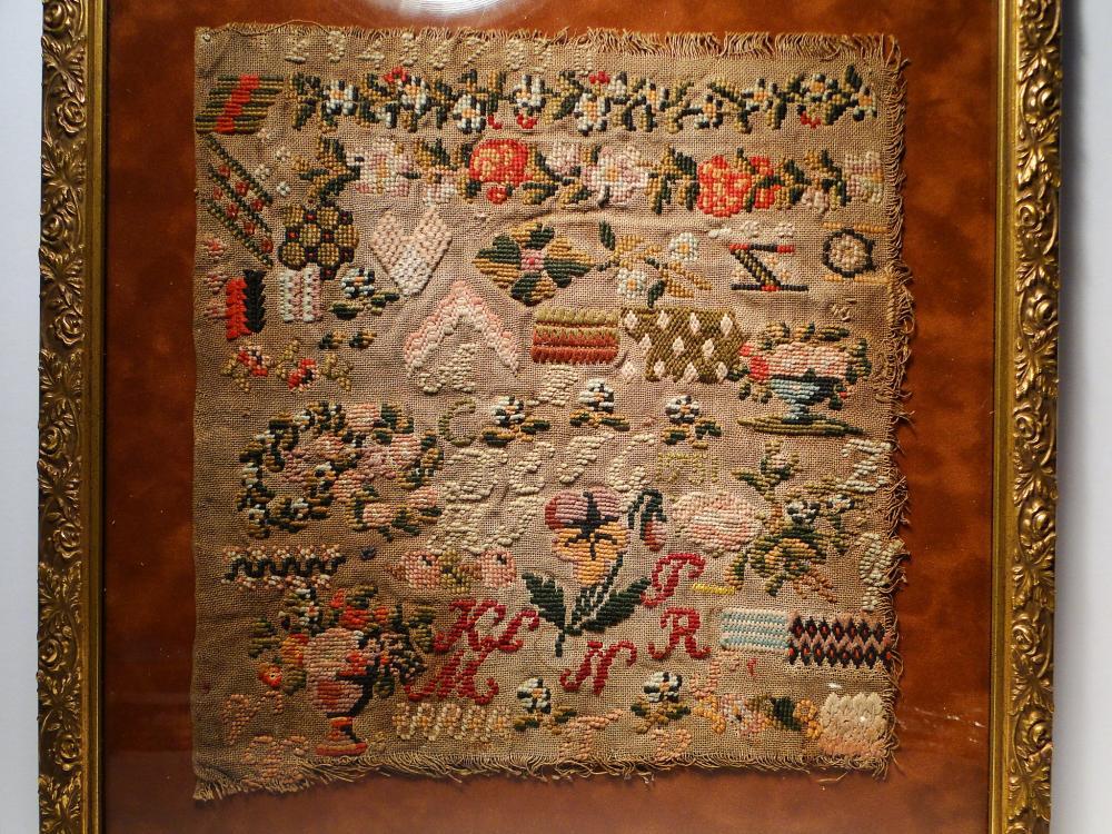 Lot 63: DATED 1751 NEEDLEWORK SAMPLER