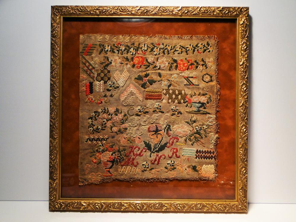 DATED 1751 NEEDLEWORK SAMPLER