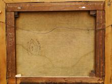 Lot 66: 19TH C HUDSON RIVER PAINTING W/ INDIANS