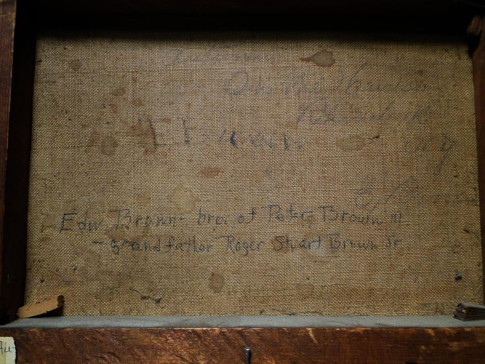 Lot 65: 1881 O/C PAINTING HAYSTACKS BY EDMUND BROWN