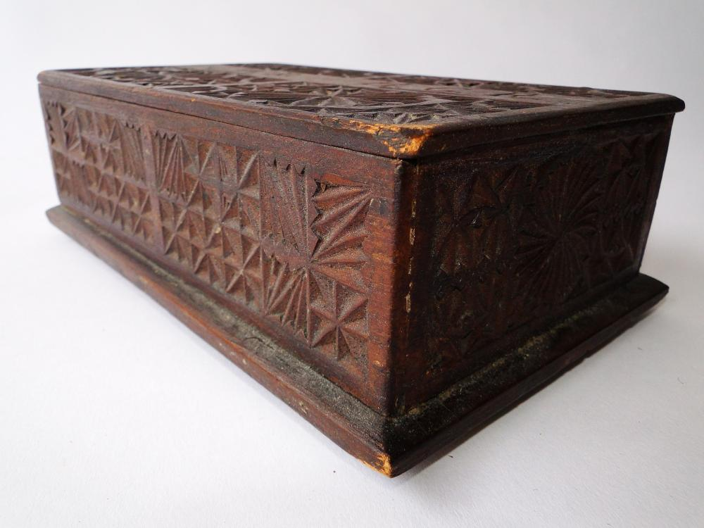 Lot 69: 18TH C FRIEZE CARVED POOR BOX
