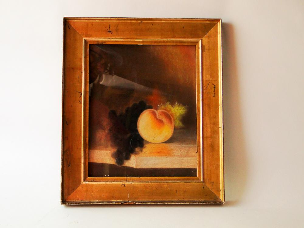 Lot 74: PASTEL OF FRUIT IN GOLD FRAME