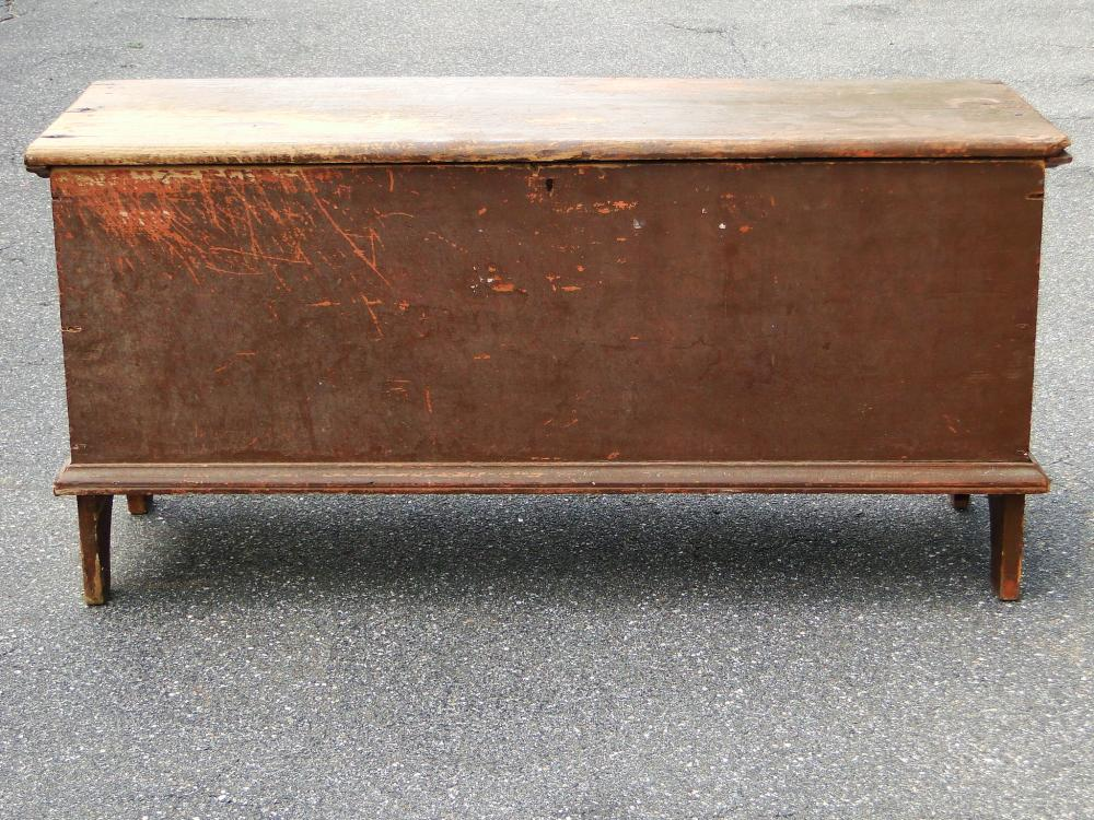 Lot 97: EARLY PAINTED BLANKET CHEST