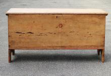 Lot 98: 19TH C PAINTED BLANKET CHEST