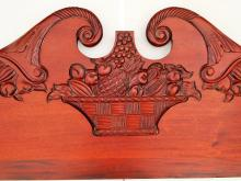 Lot 100I: 19TH C CARVED HEADBOARD