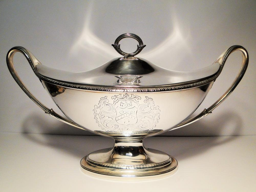 VERY RARE 1792  SILVER SAUCE COVERED TUREEN HALLMARKED