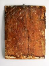 Lot 104: EARLY 17TH C RELIGIOUS PAINTING ON CARVED WOOD PANEL